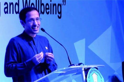 Menteri Pendidikan, Kebudayaan, Riset, dan Teknologi ( Mendikbudristek ) Nadiem Makarim