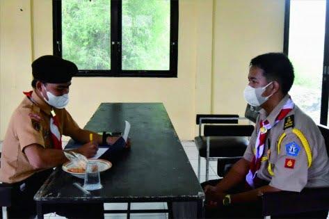 Ada 36 anggota Pramuka Penegak dari berbagai pangkalan mengikuti seleksi